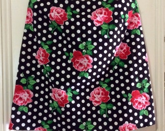 Retro Floral Lucy A-Line skirt