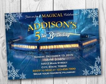 DIGITAL FILE - Polar Express Invitation - Polar Express Birthday Party - Polar Express Printables - Christmas Invitation