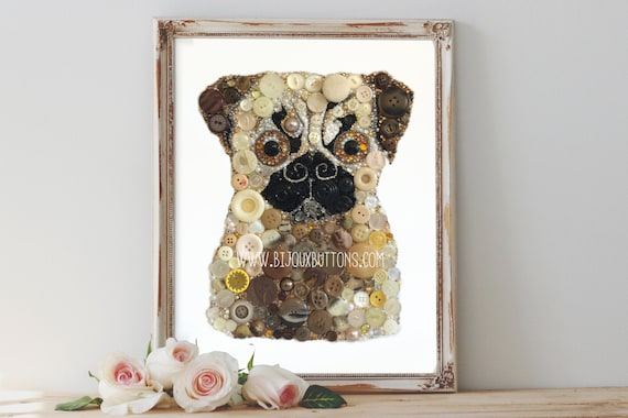 Cool Christmas Wall Decor : Items similar to pug home decor dog wall art christmas