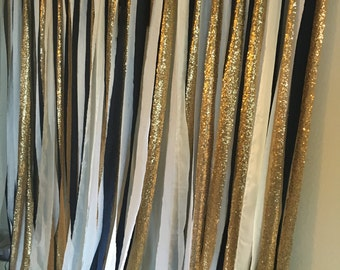 Copper and Navy backdrop, fabric backdrop, wedding backdrop