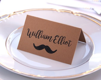 Wedding Place Cards Placement Kraft Hipster
