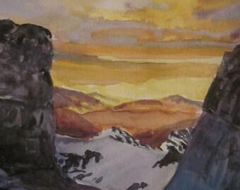 Mountain Vistas Sunset