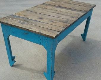 Reclaimed wood coffee table farmhouse furniture farmhouse