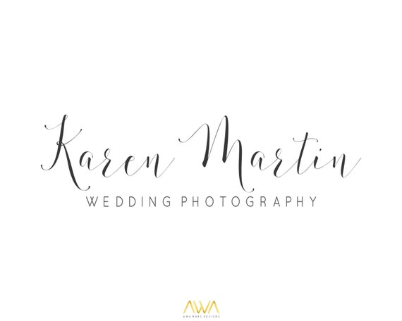 Simple calligraphy logo design premade by