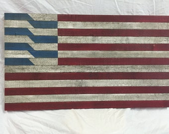 Flag Wall Art, Waving Star