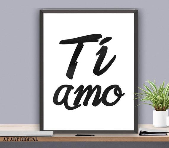 Ti Design Wall Art : Ti amo art print love wall decor printable by atartdigital