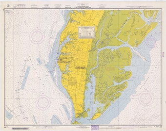Chesapeake Bay Map - Cape Charles to Wolf Trap 1967