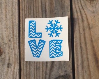 Love with Snowflake Vinyl Decal