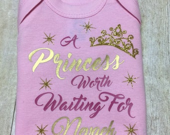 princess design onesie or gown personalized newborn onesie personalized princess gown little girl designs disney princess
