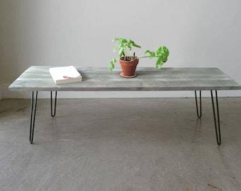 Reclaimed Barnwood Coffee Table w/ Hairpin Legs