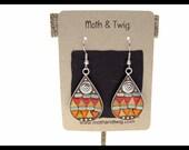 Mosaic Art Teardrop Earrings, Moroccan Tiles, Mosaic Art Jewelry, Mosaic Earrings