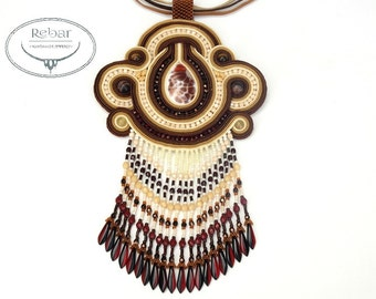 "Soutache Pendant ""Anchesenamon"""