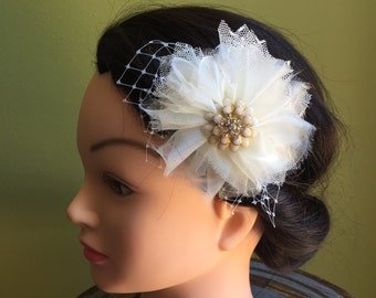 Ivory flower with netting