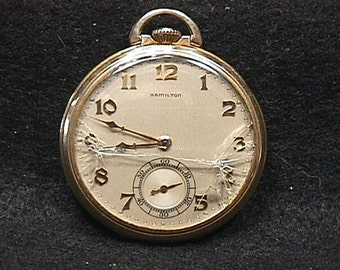 Antique Hamilton U.S.A. no. 917 Pocket Watch