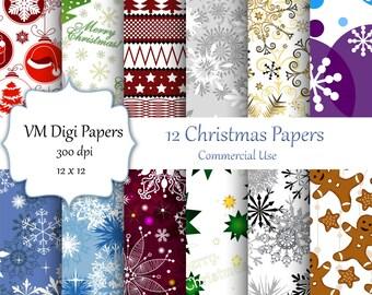 Christmas Digital Paper, Christmas Pattern, Holiday Digital Paper, Christmas Paper, Digital Paper, Holiday Paper, Christmas, #7384