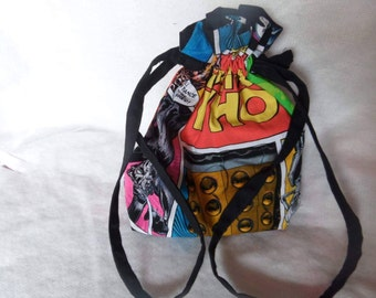 Doctor Who comic-book style medium project bag