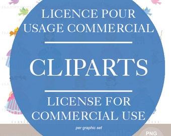 License for commercial use of clipart FraNbulle-illustration/Françoise Bernier