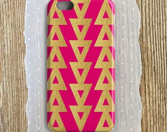 Hot Pink iPhone Case Hot Pink iPhone Case Hot Pink iPhone 6 Hot Pink iPhone 5 Hot Pink iPhone 6S Plus Hot Pink IPhone SE Case Geometric Case