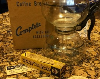 1950's Glass Cory Coffee Maker