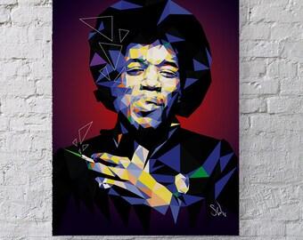 Hear my Train A'comin' - Jimi Hendrix Fan art