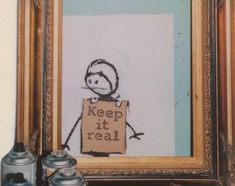 Feature Fridge Magnet, 'Keep It Real'.