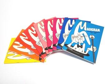 Nine Magigram magic book magazines.  Volume 20, No. 1 through 9 September 1987 - May 1988