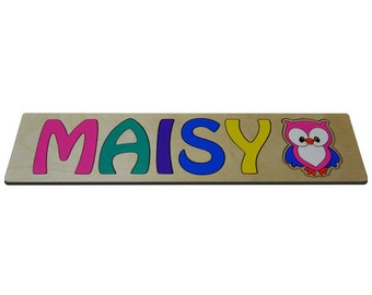 Personalized Wooden Name Puzzles With Cute Owl & Child's Name id266727999