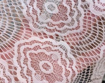 """54""""w Nylon lace Peach color Fabric by the yard"""