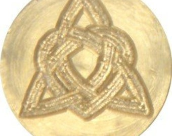 "Heart Knot 3/4"" diameter brass Celtic Wax Seal Stamp"