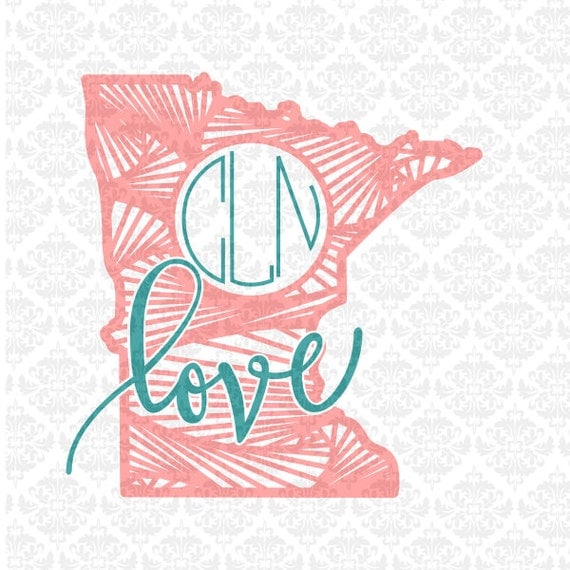 Minnesota Zentangle Line Filigree SVG STUDIO Ai EPS Scalable Vector Instant Download Commercial Use Cutting FIle  Cricut Silhouette