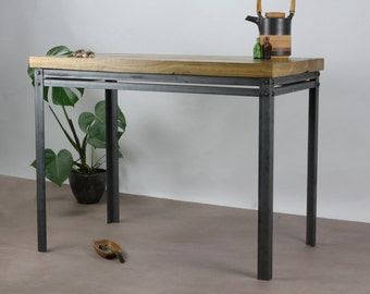 Oak/Steel INDUSTRIAL Dining Table , rustic, vintage, chic, cafe, restaurant