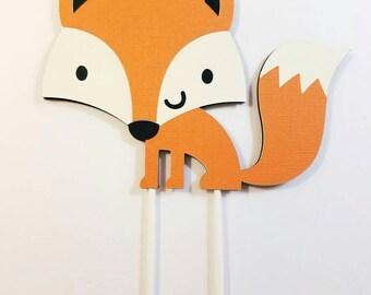 Fox cake topper | Etsy