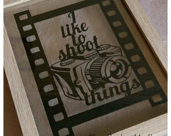 I Like To Shoot Things - a camera themed template for paper cutting - Personal and Commercial Use PDF