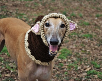 Crocheted dog snood