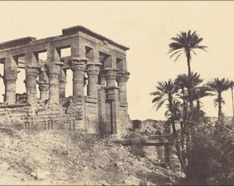 24x36 Poster . Kiosk Of Trajan, Philae 1853