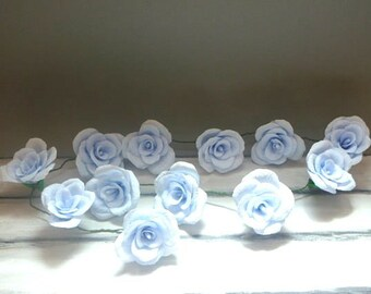 Wedding Arch Garland,Paper Flower Garland,Blue Roses Garland,Party Decoration,Bridal Crepe Paper Rose Flower,Paper Flower
