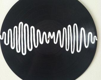Arctic Monkeys Album Art Custom Painting on Vinyl Record - AM