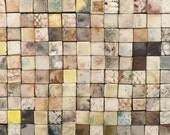 30cmx30cm sheet of smoke fired mosaic fired tiles x 2