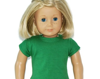 "Green Tee Shirt - Doll Clothes made to fit 18"" American Girl Dolls"