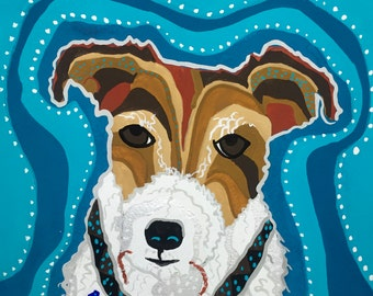Jack Russell Terrier Gouache Painting