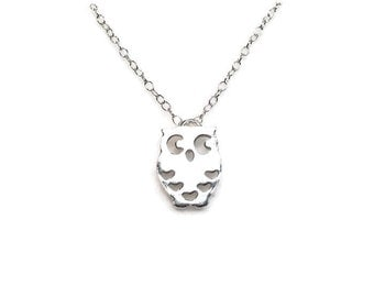 Twit Twoo 925 Sterling Silver Owl Pendant Necklace by How I Wonder