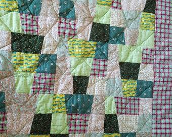 Baby Quilt - Baby Boy Quilt - Stroller Quilt - Toddler Quilt - Crib Quilt - Baby Blanket - Quilt - Small Quilt