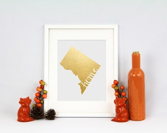 District of Columbia Home State Collection Foil Pressed Prints {5x7}