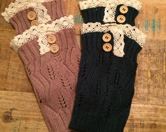 NEW COLORS!! Lace Boot Cuff