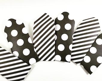 8 Black and White coin envelopes, gift card holders, pattern envelope, business card holder, gift enclosure, Mini envelope, Wedding Envelope