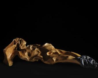 CHRISTINE - sculpture enamelled terracotta