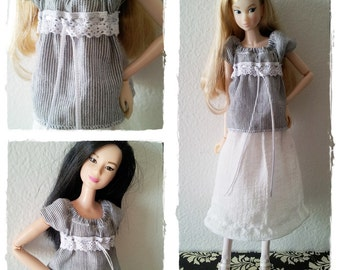 Momoko / Barbie Outfit / Blouse And Skirt In Set / Momoko Barbie Clothes / Bohemian Girl