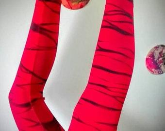 Leggings zebra red ~ black