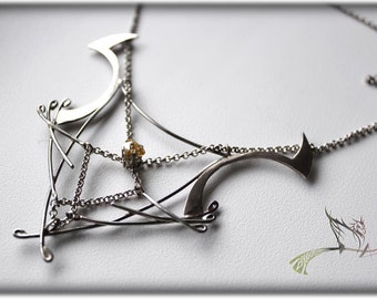"""Necklace and earrings """"Captivity of dreams"""""""