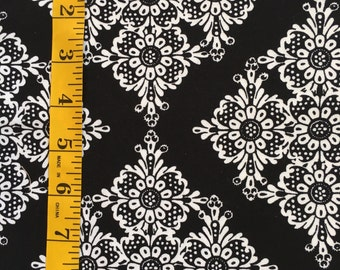 Michael miller quilt fabric black and white